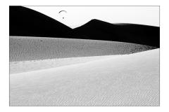 Flug durch die Dünen